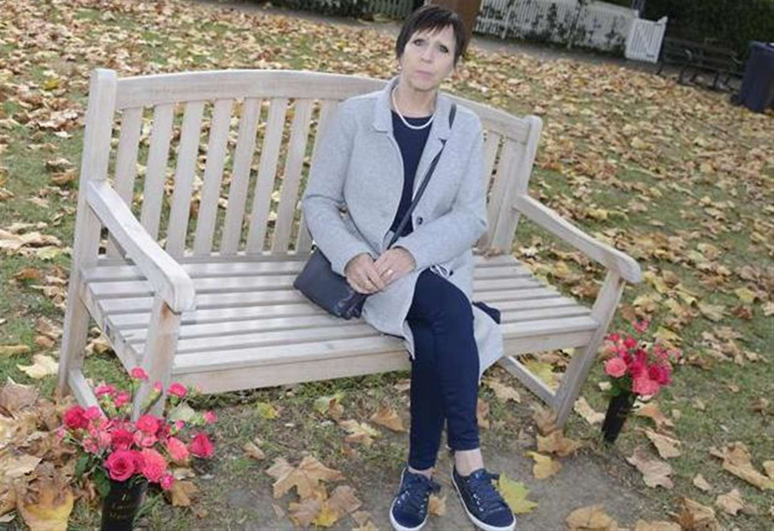Widow to defy bench flowers rule