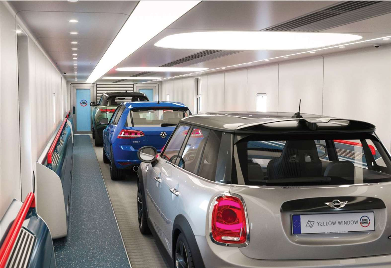 This is how the Eurotunnel passenger shuttles could look once revamped