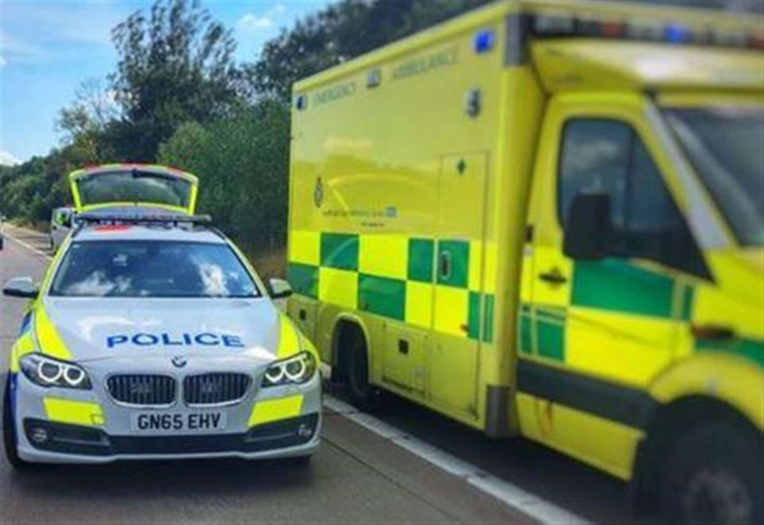 Two taken to hospital after crash