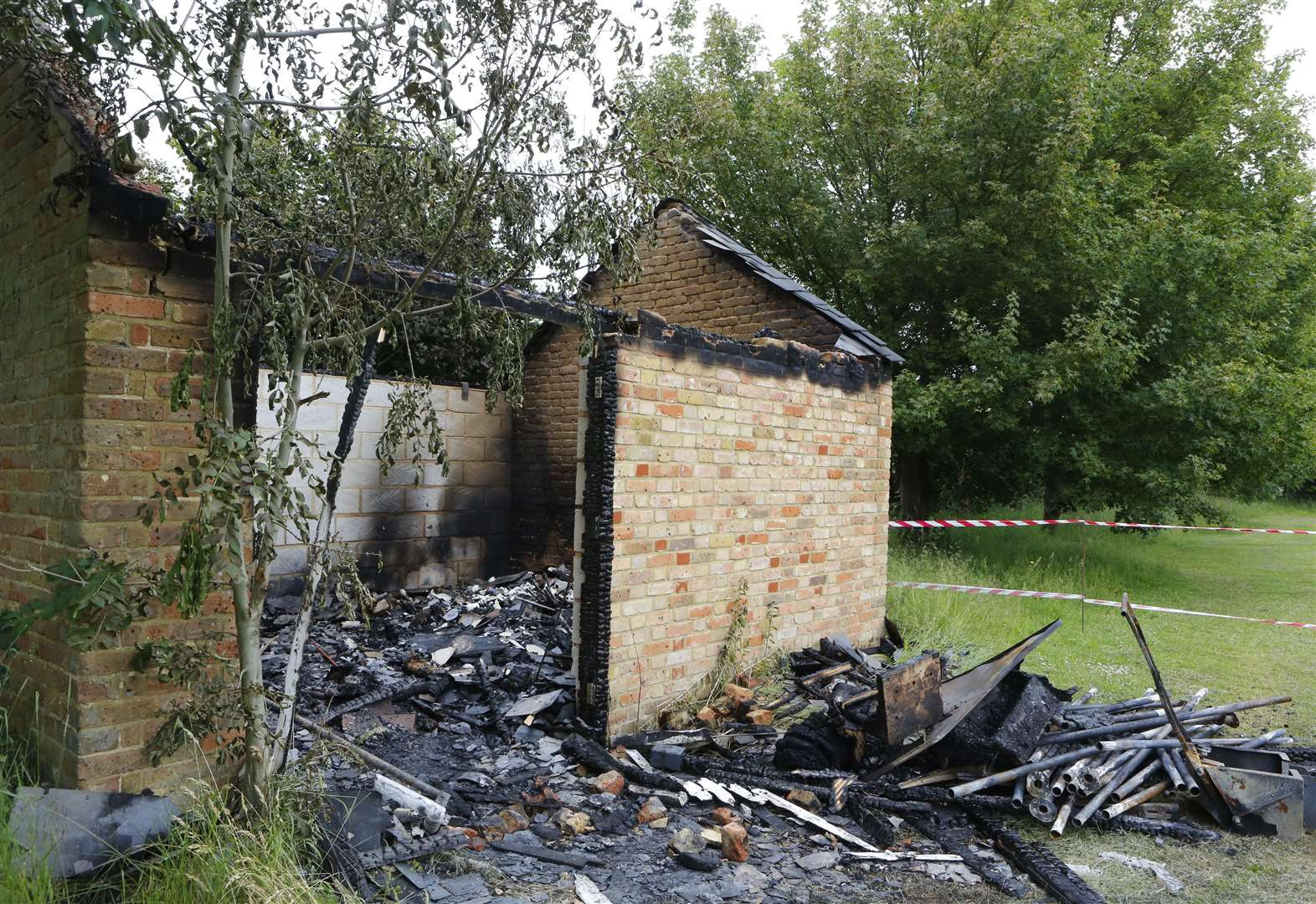 Football club loses £1,500 worth of equipment in fire