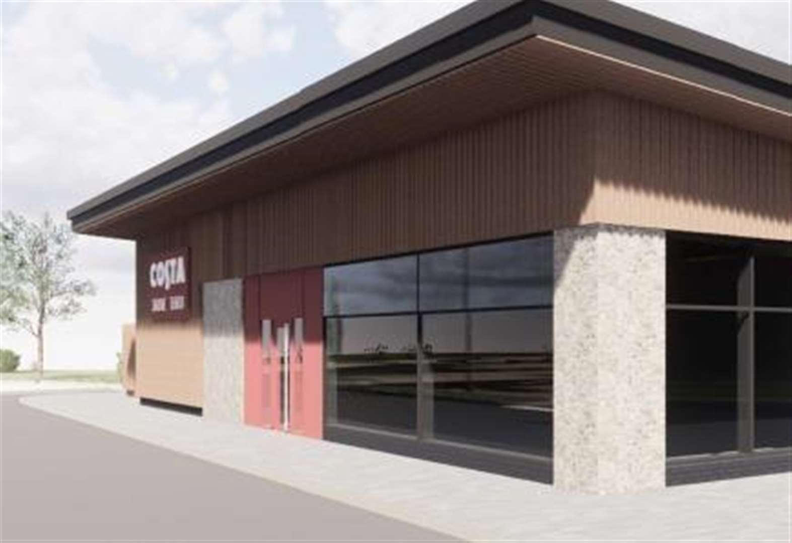 First look at drive-thru Costa Coffee planned for town