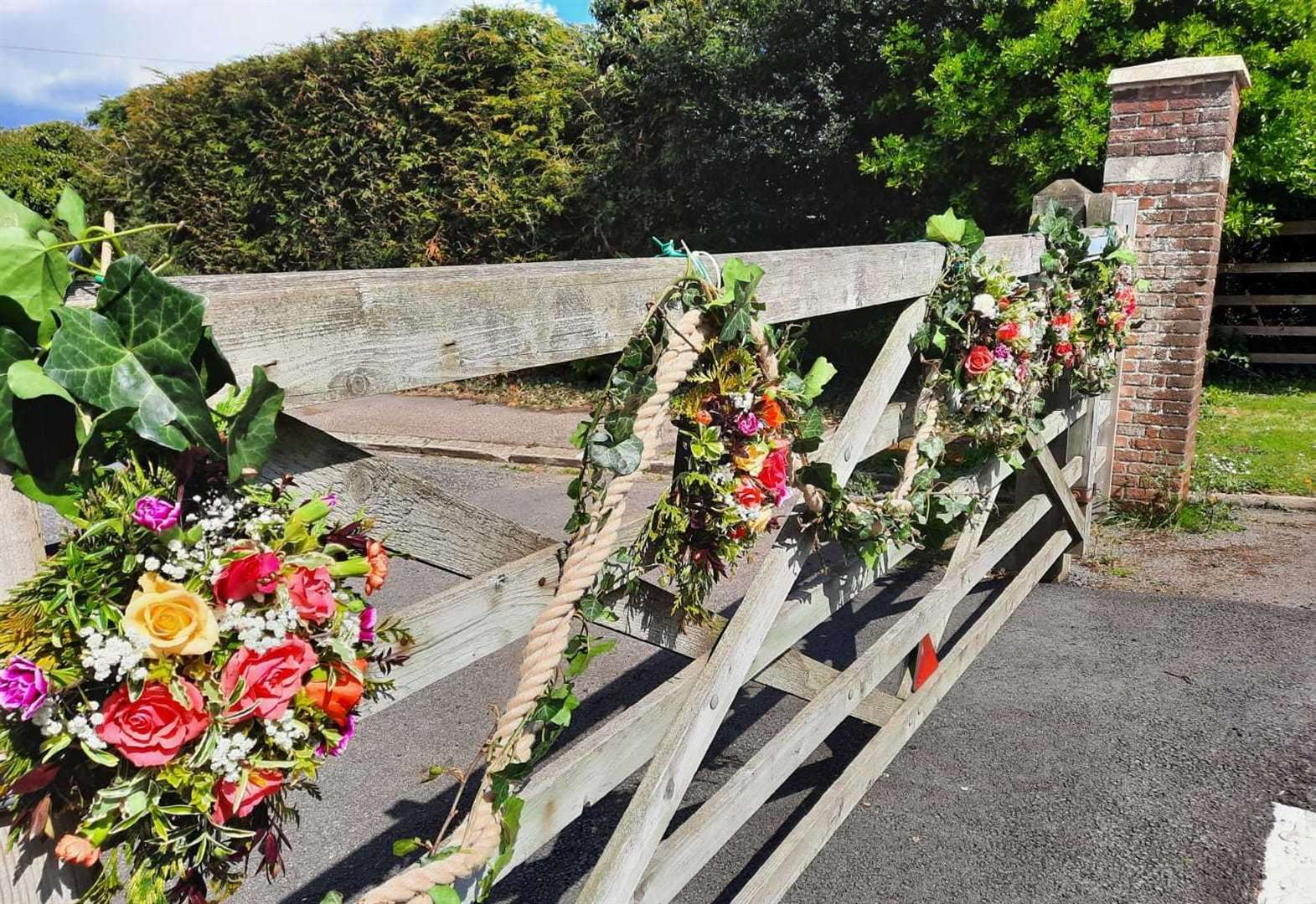 Flower displays put out in 'message of hope'
