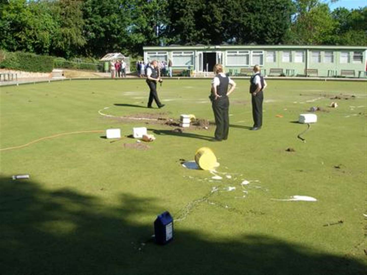 Boys arrested after bowls club