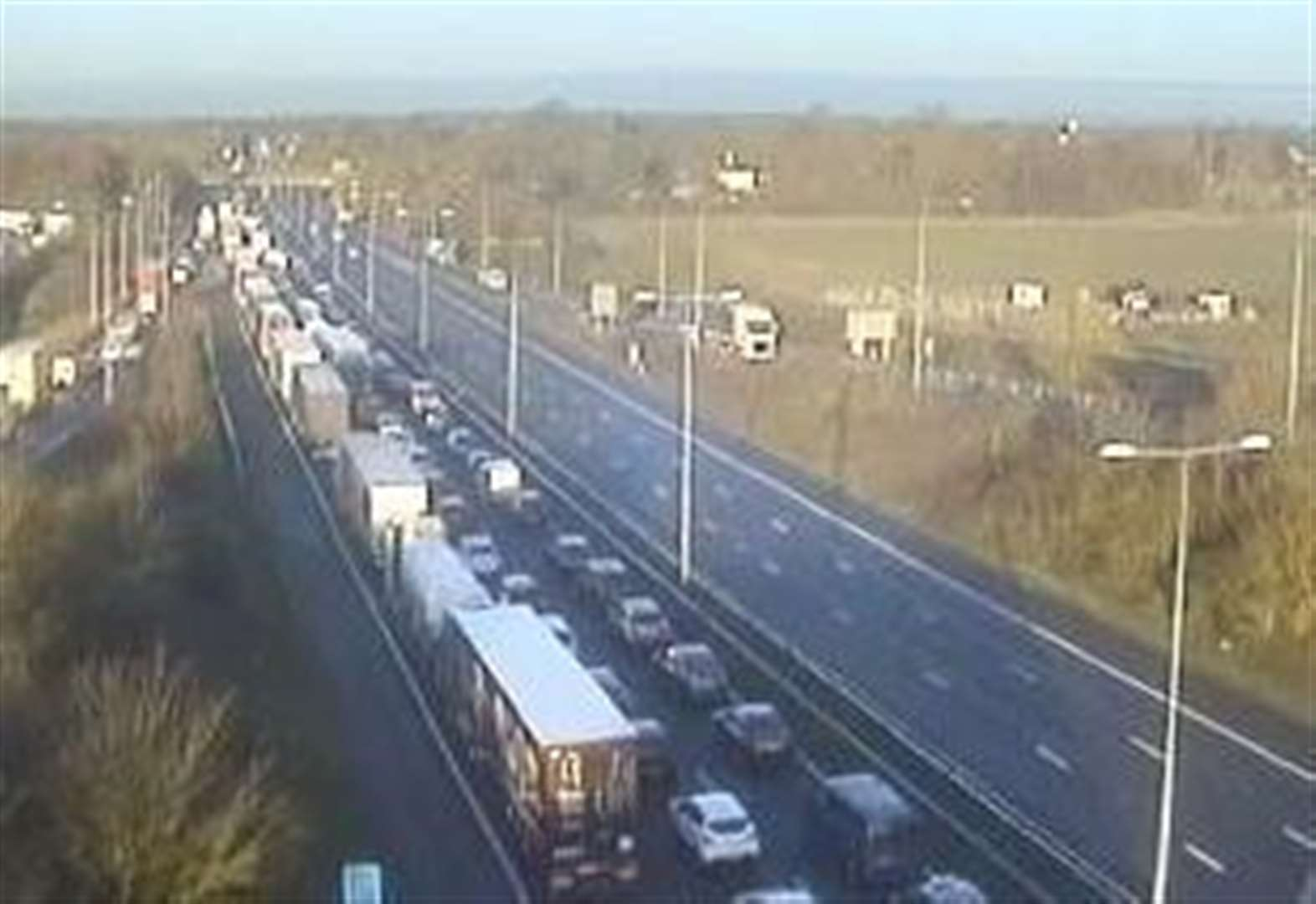 Delays on M20 after accident