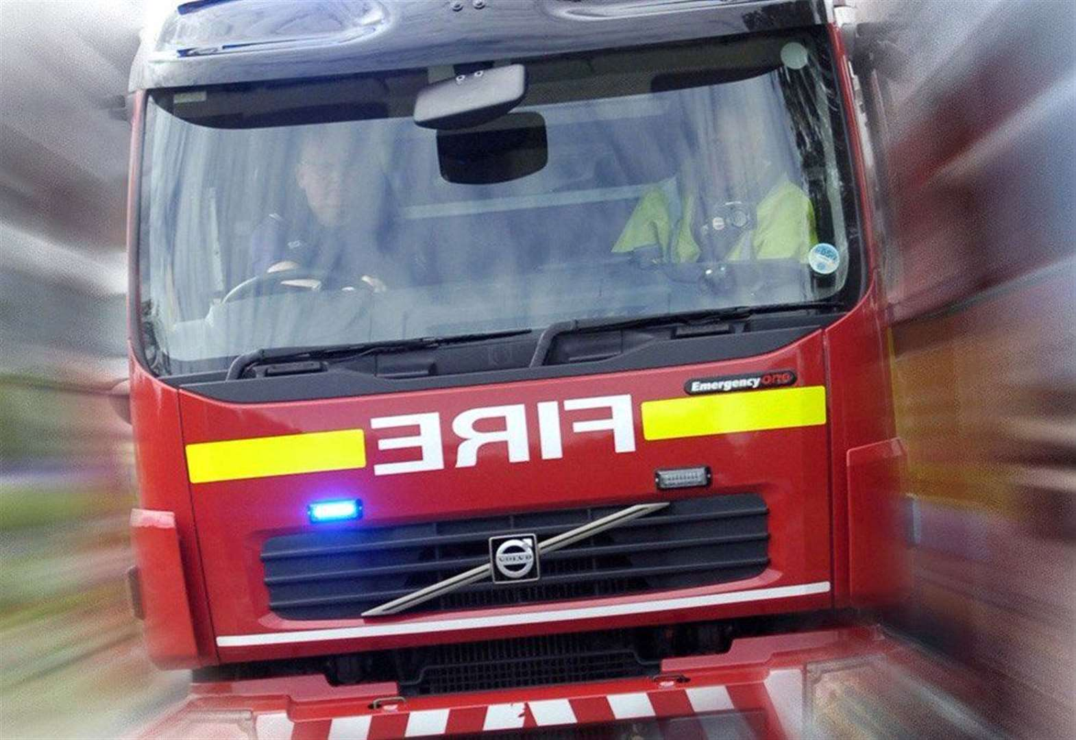 Man rescued from kitchen fire
