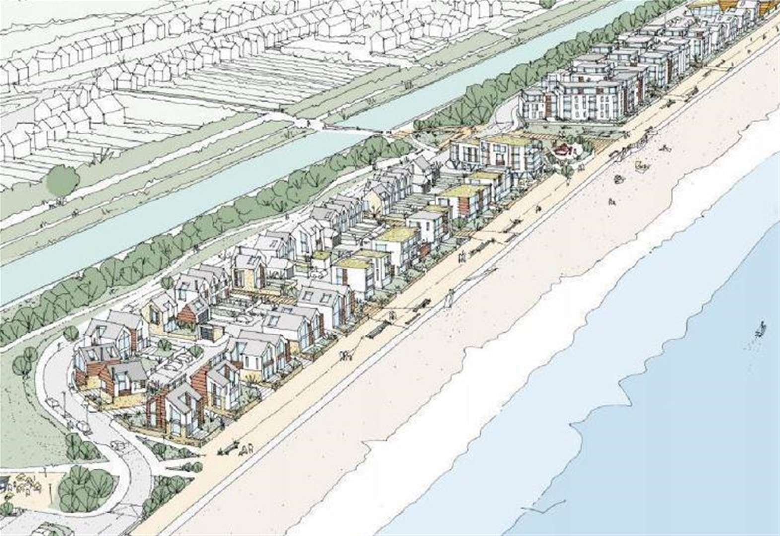 Council approves 150 seafront homes