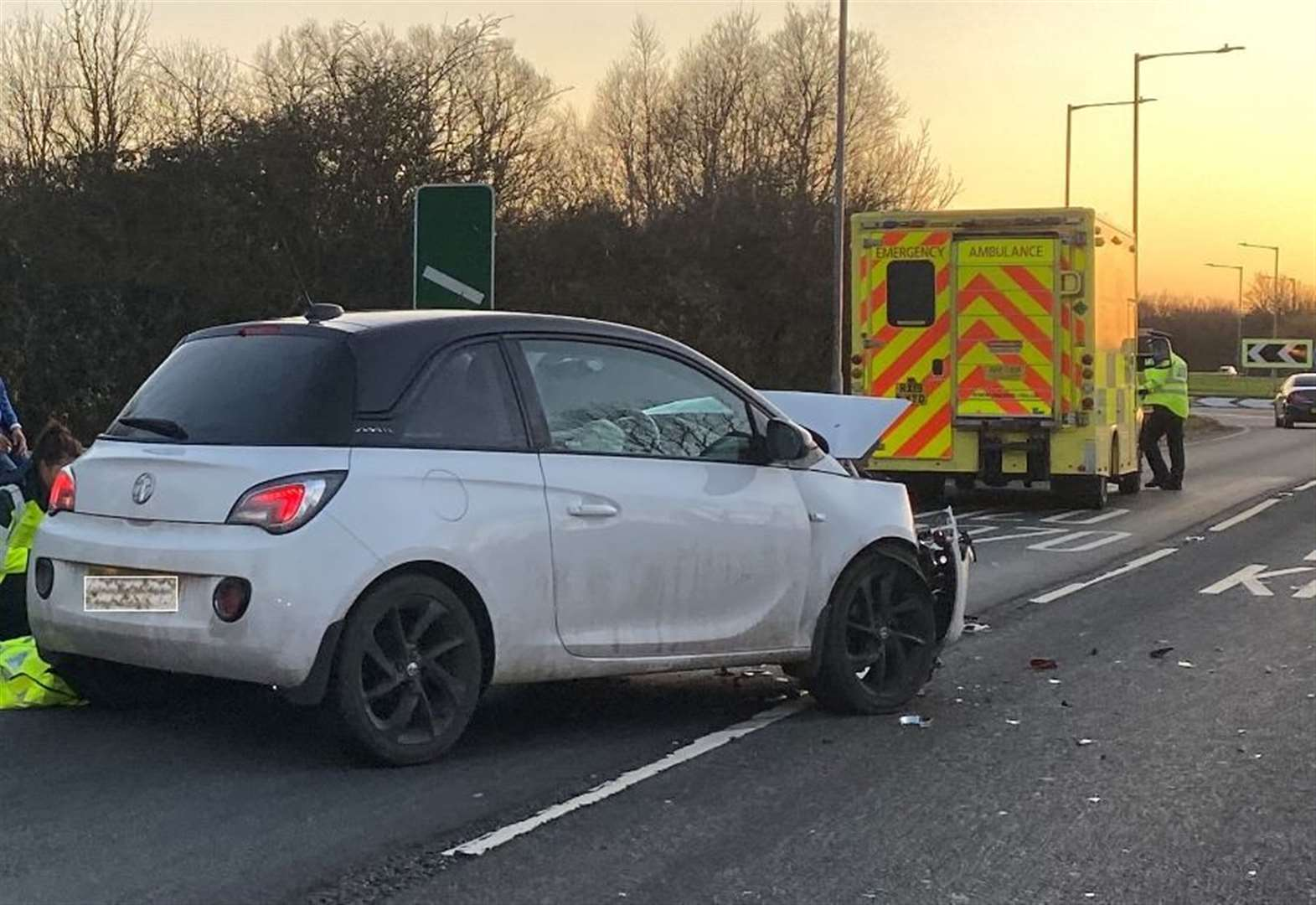 Crash sparked dual carriageway delays
