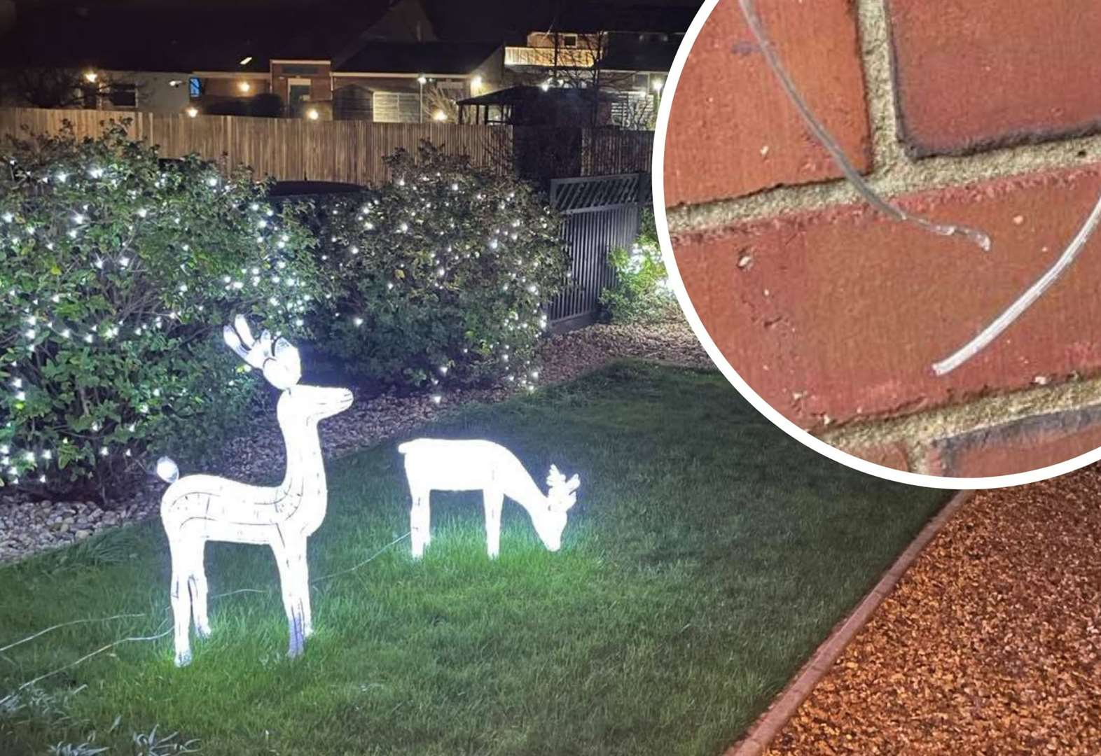 'Grinchy' vandal cuts outdoor Christmas lights