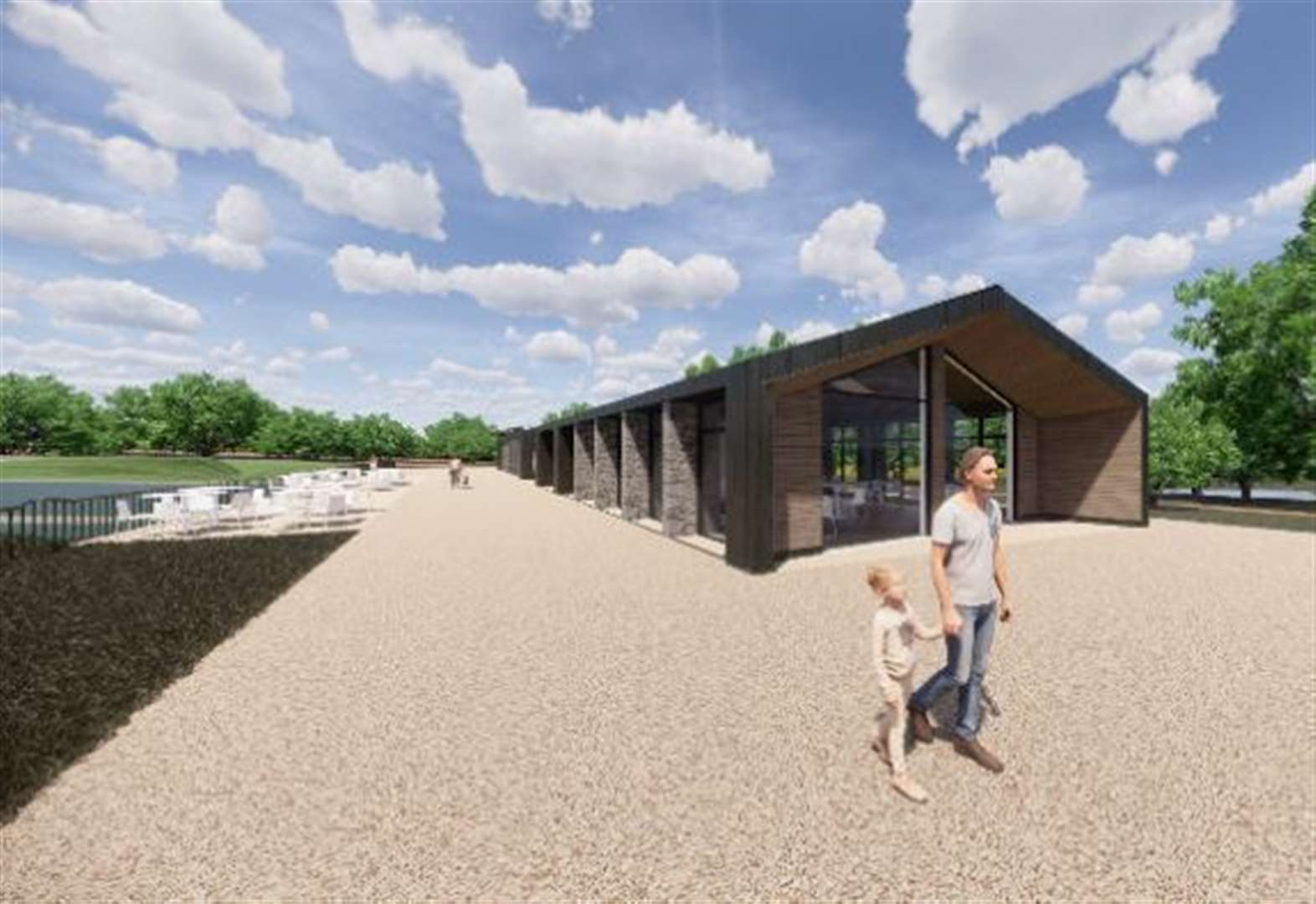 New café and visitor centre for park