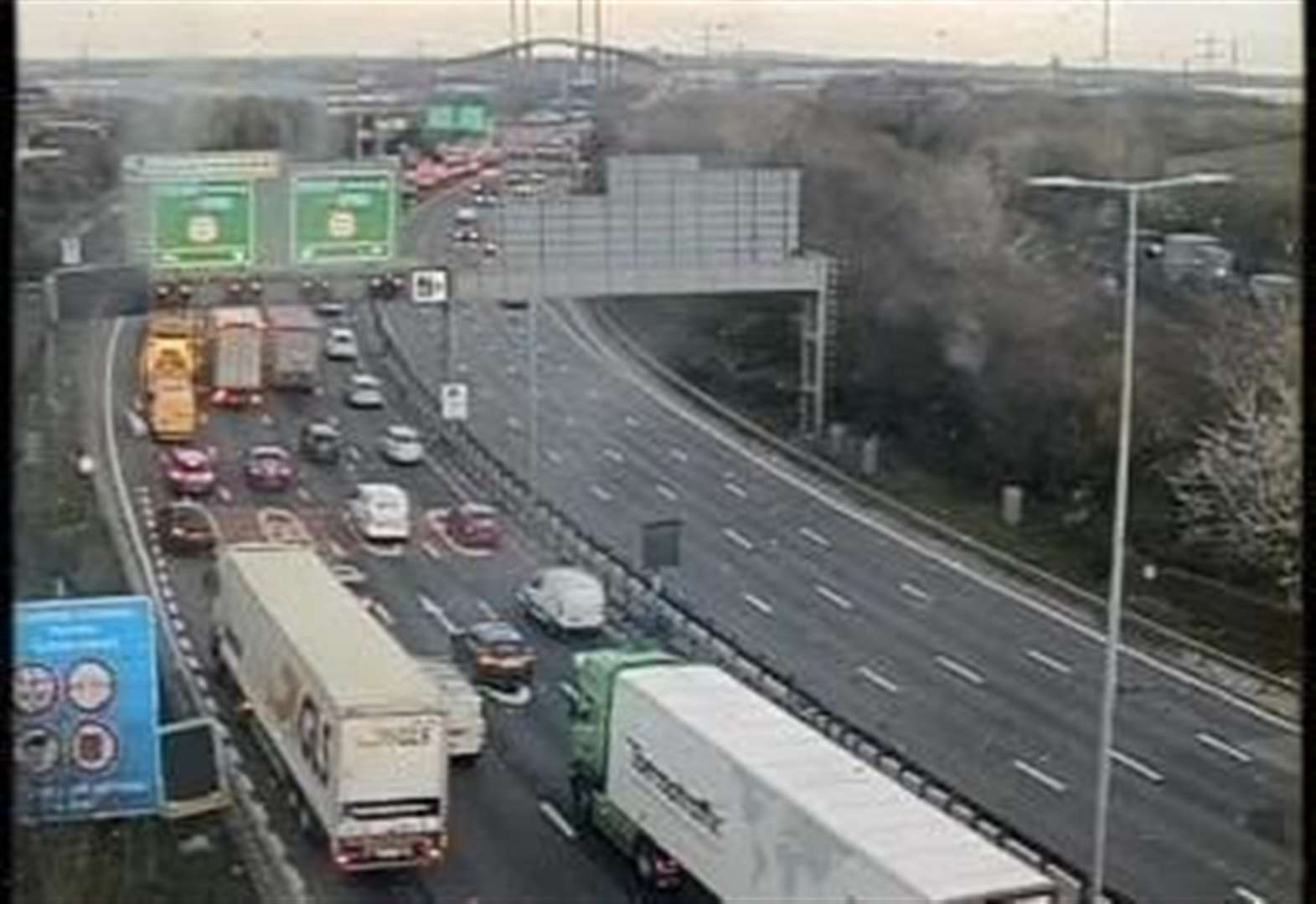 All lanes reopen towards Dartford Crossing