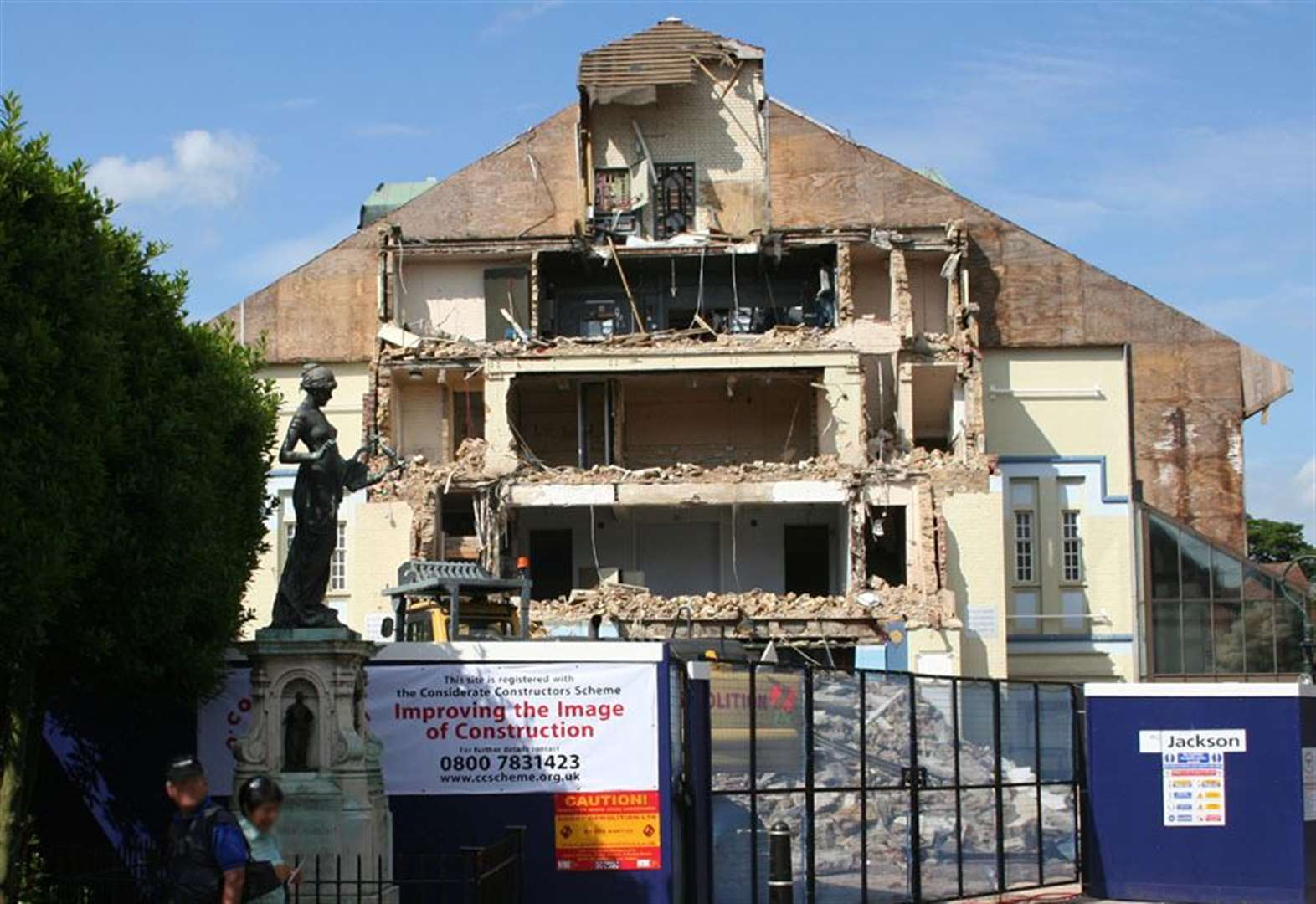 Historic theatre demolition caught on camera