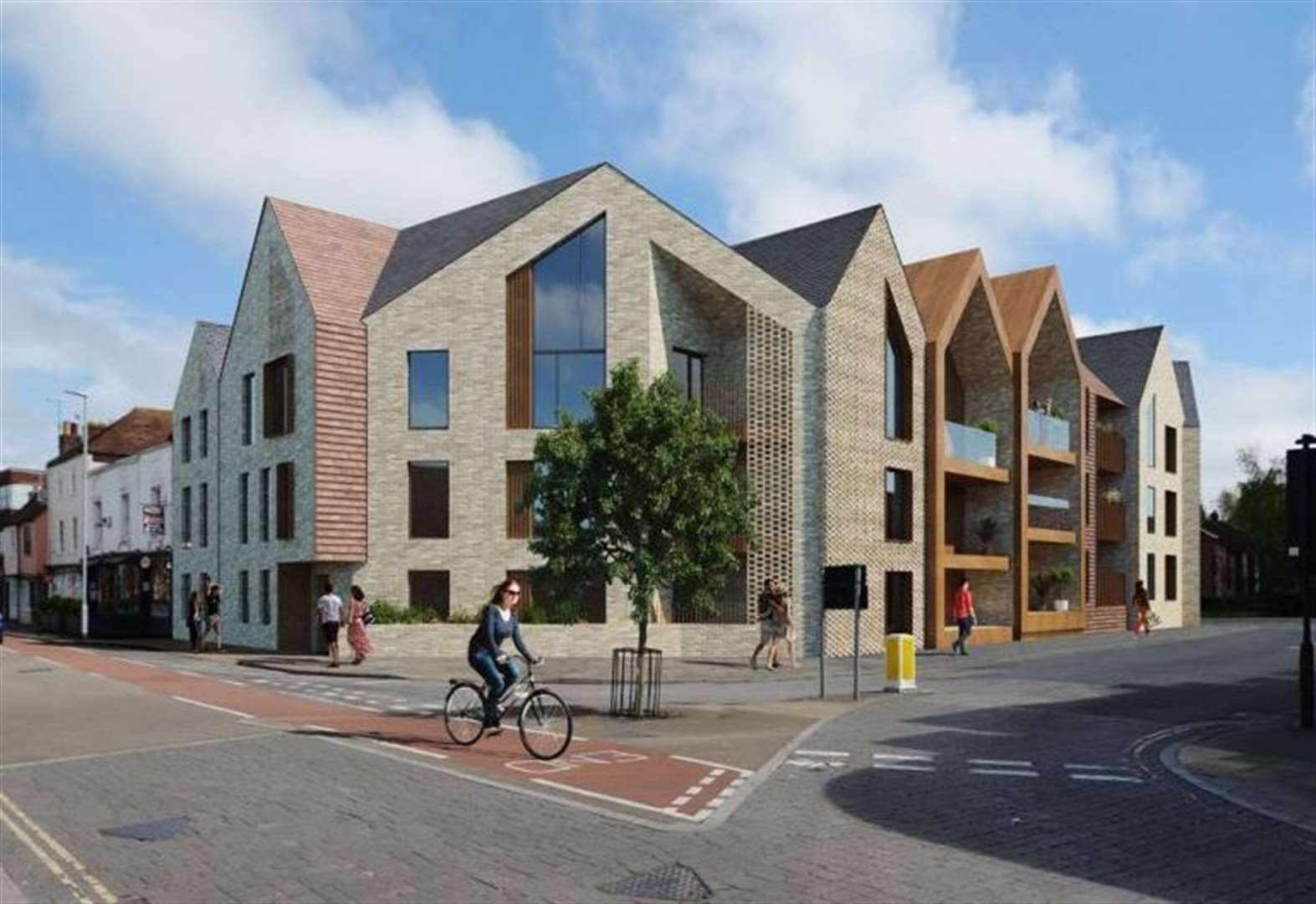 Luxury flats to replace garage
