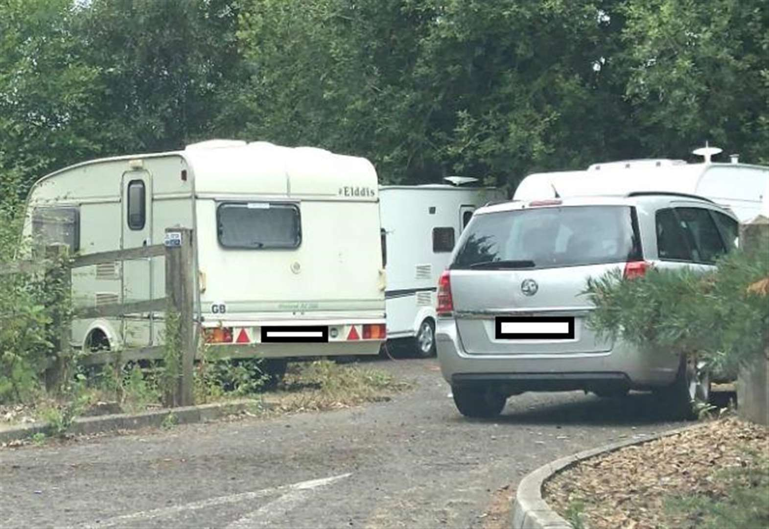 Travellers move into car park