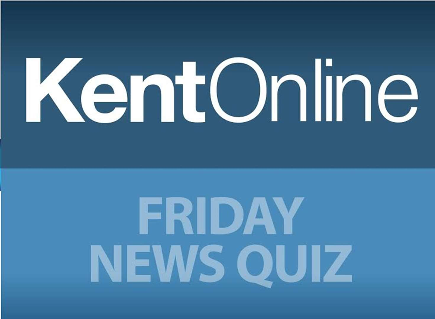 The Friday News Quiz