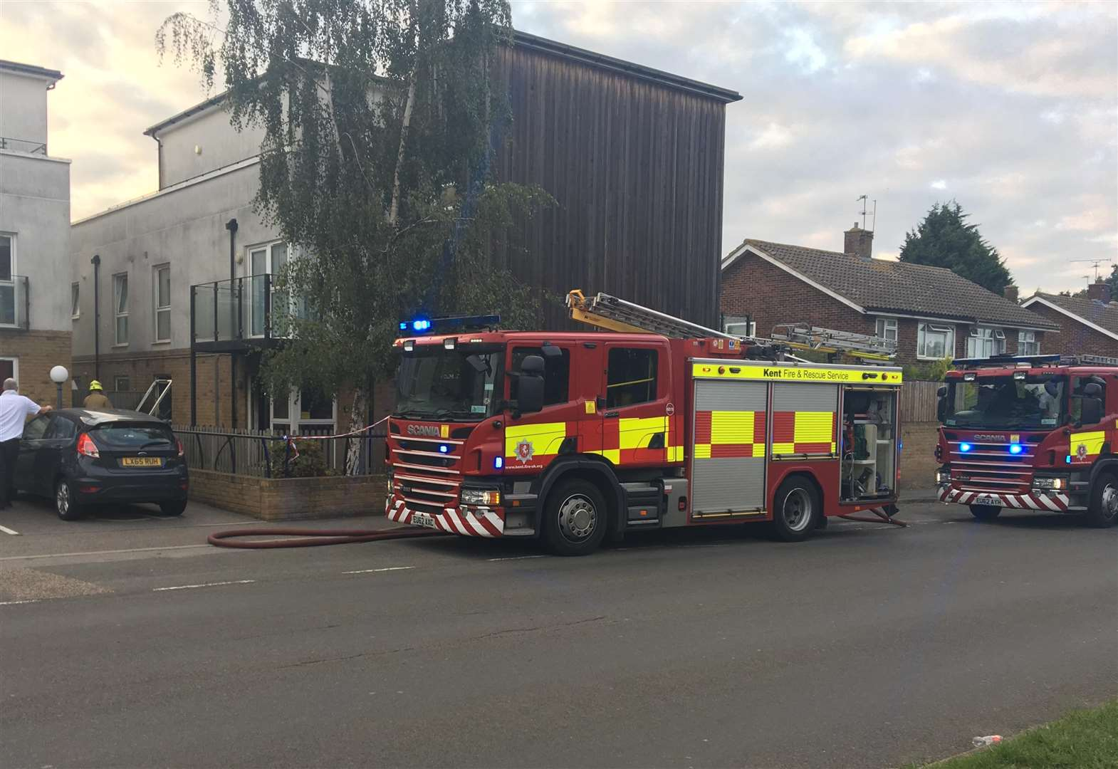 Crews scambled to flat fire