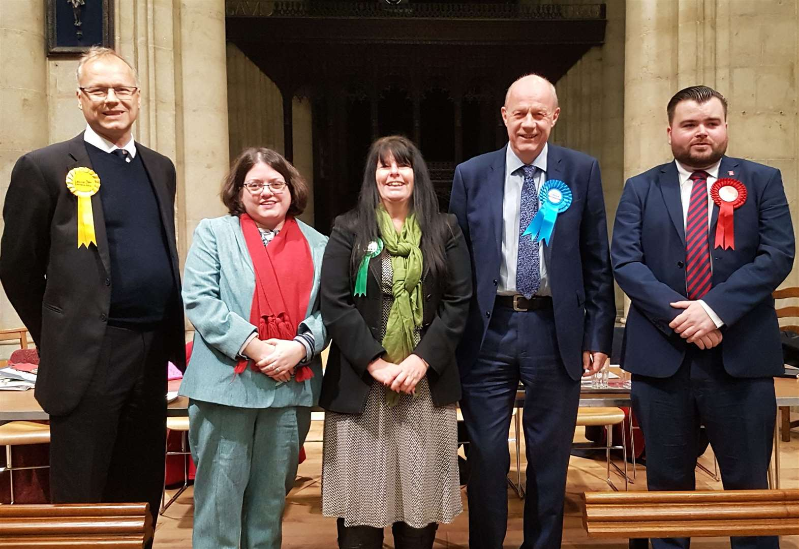 Lively debate as candidates spar at election hustings