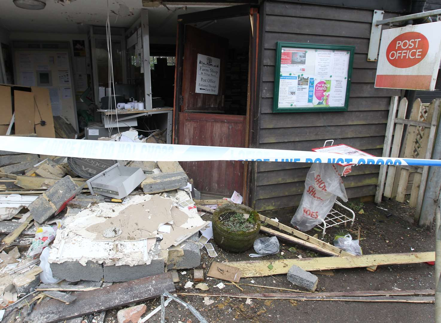 Post office to reopen after ram raid bid