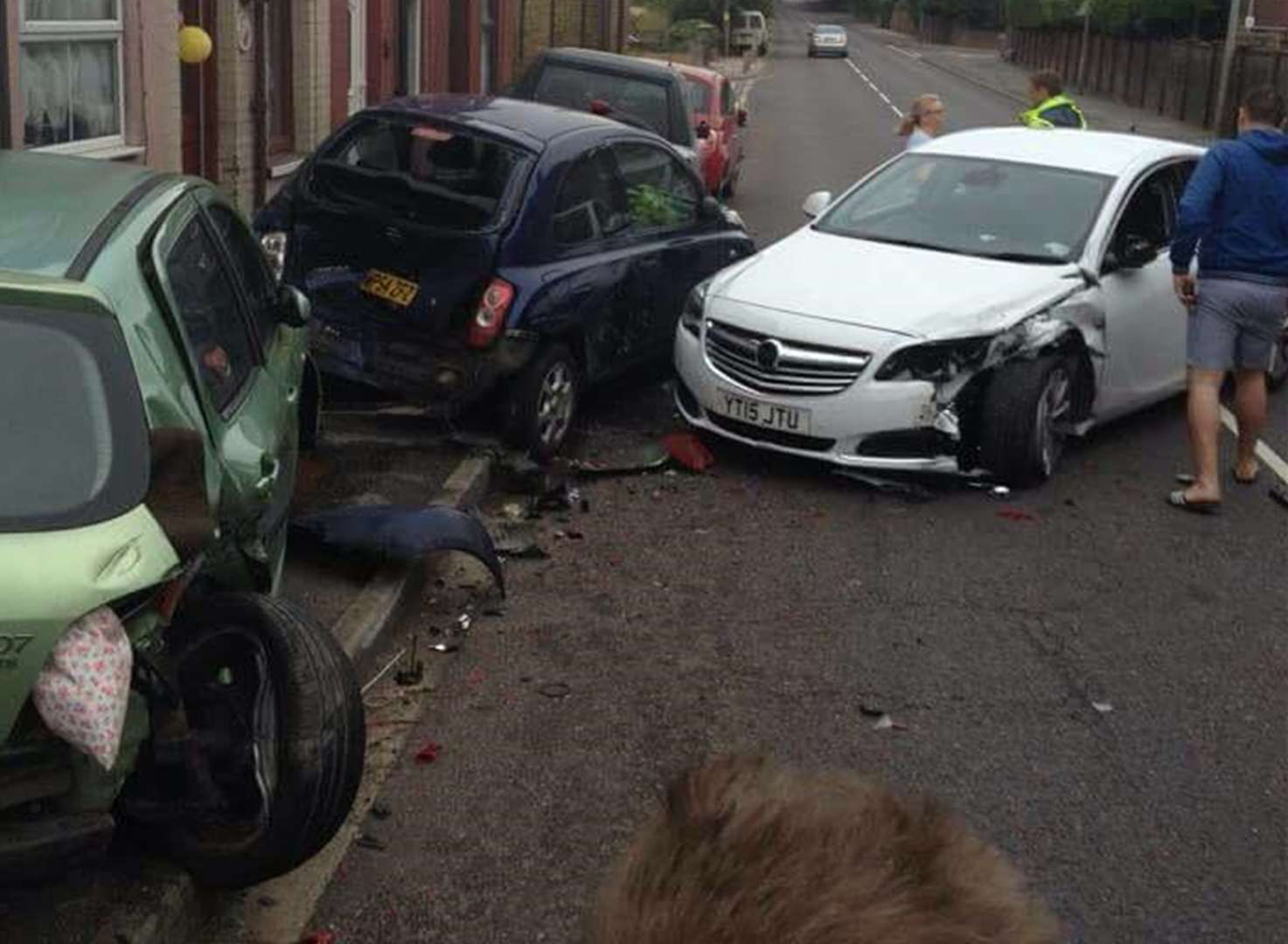 100mph driver jailed after smashing into cars