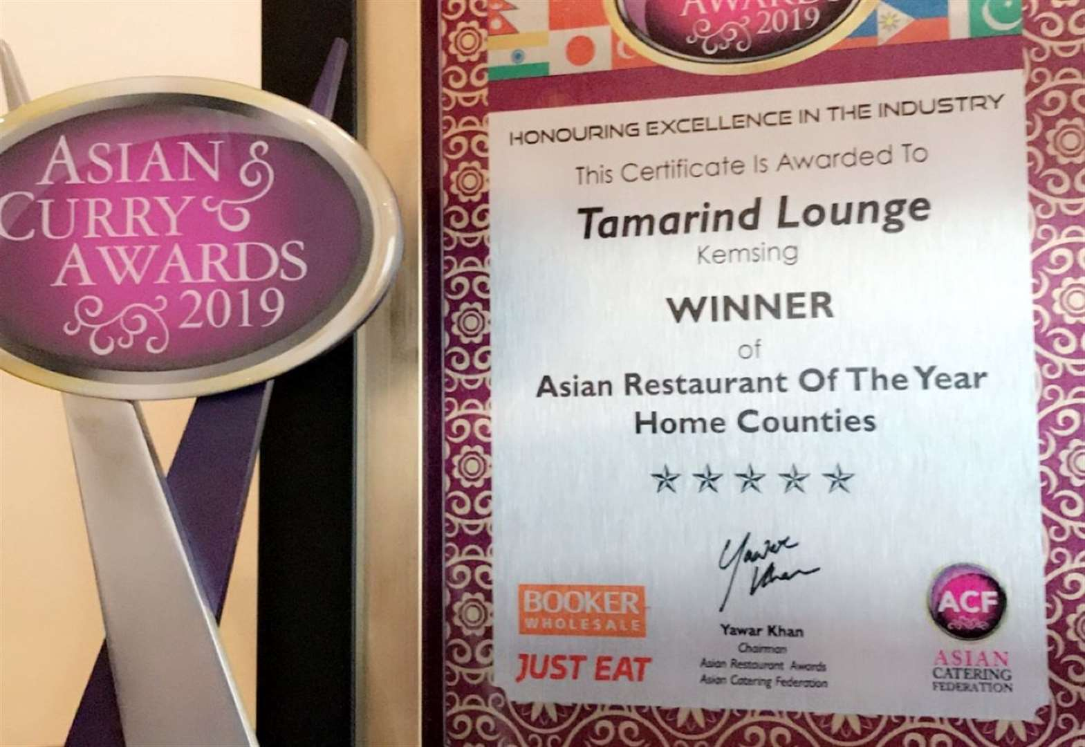 The best curry house is in Kemsing