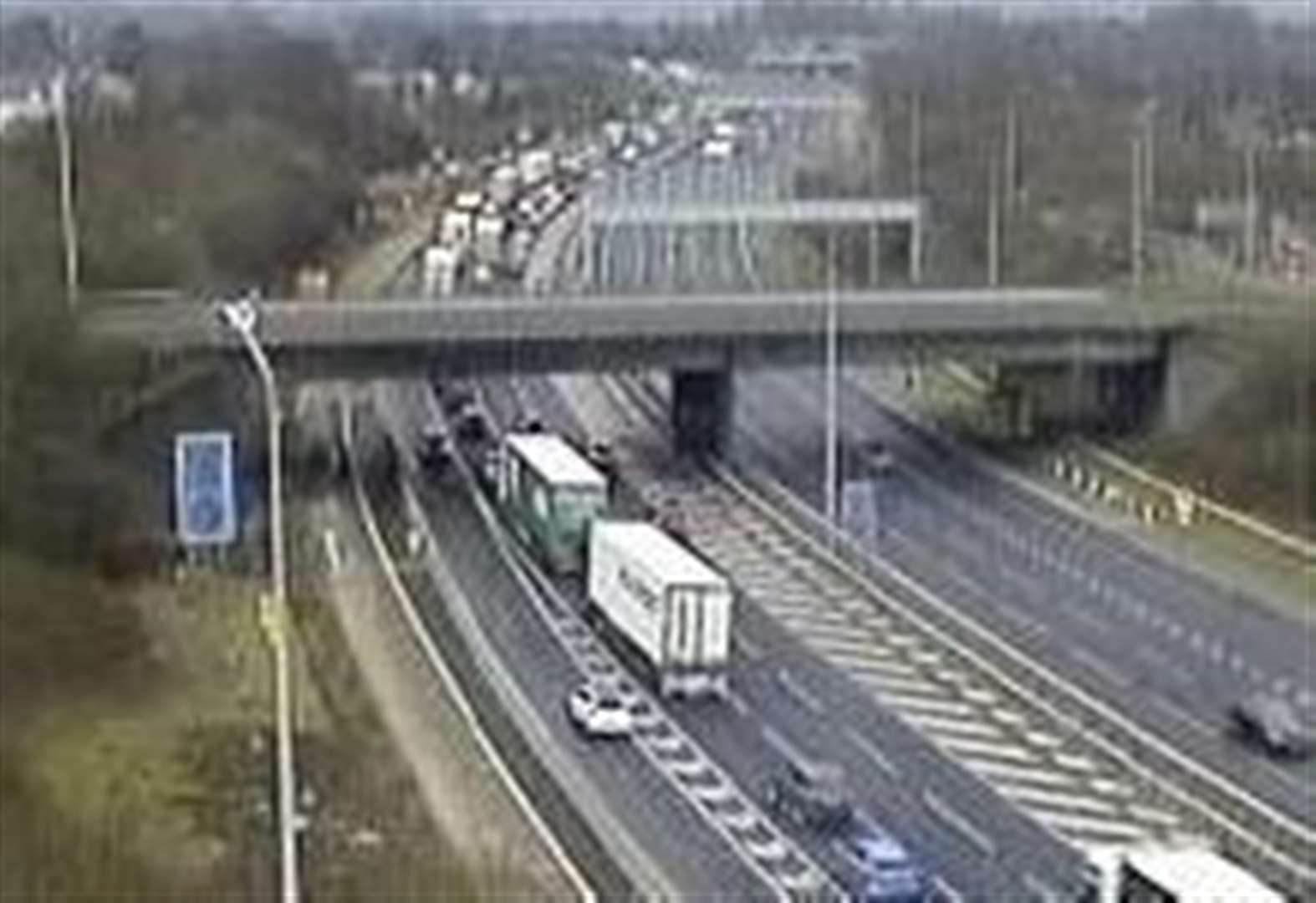 Emergency repairs shut two lanes of M20