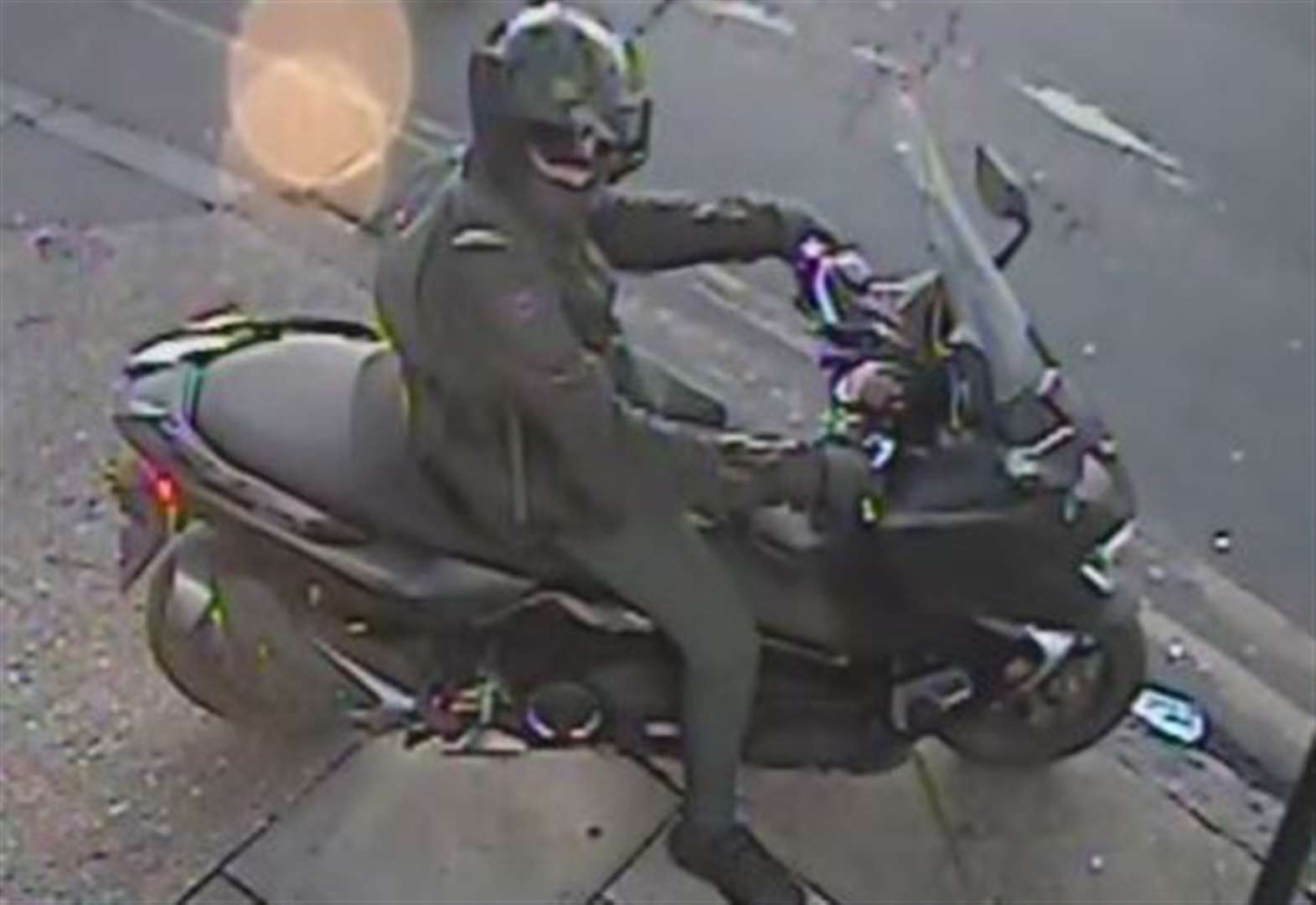 CCTV released following 'acid' attack