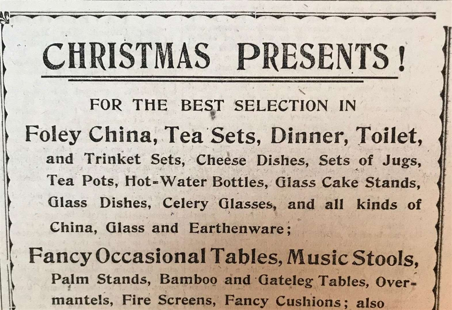 The reality of first post-war Christmas 100 years ago