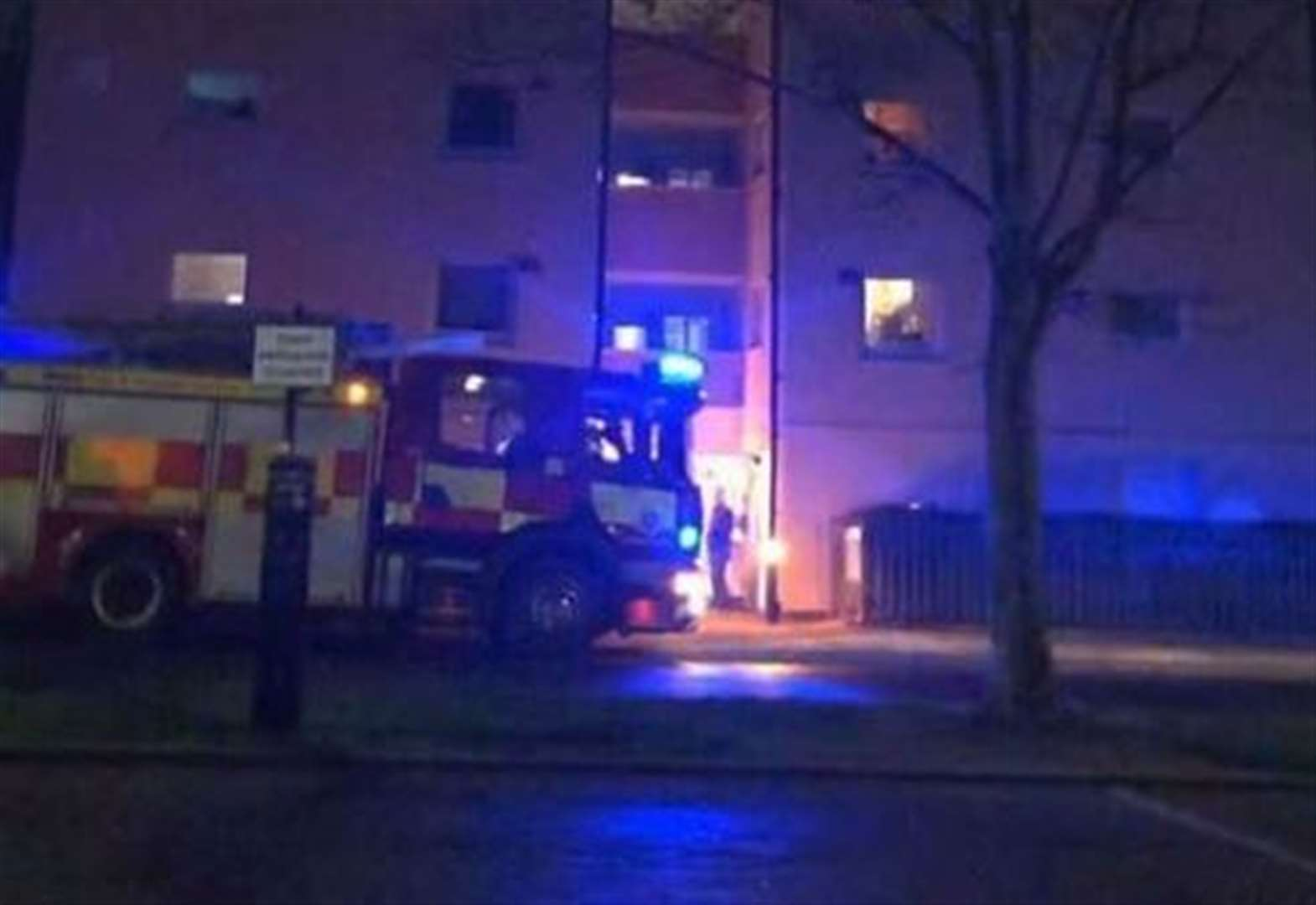 Confusion after fire engines turn up at tower block