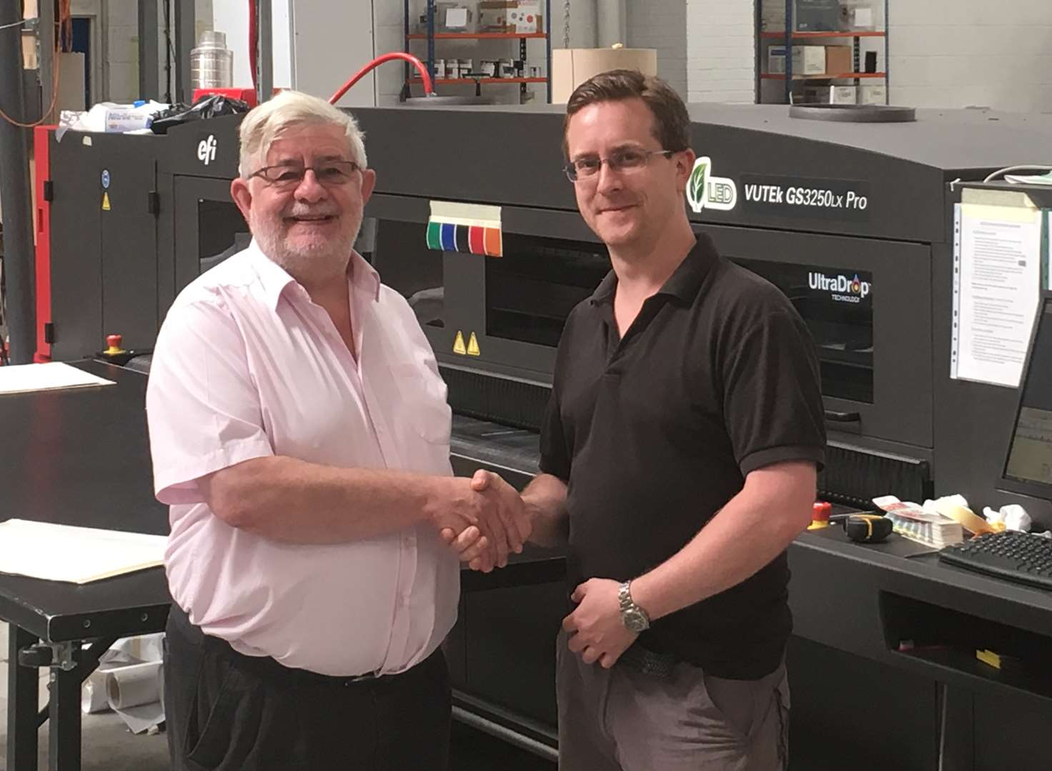 Son steps in to save stricken printing firm