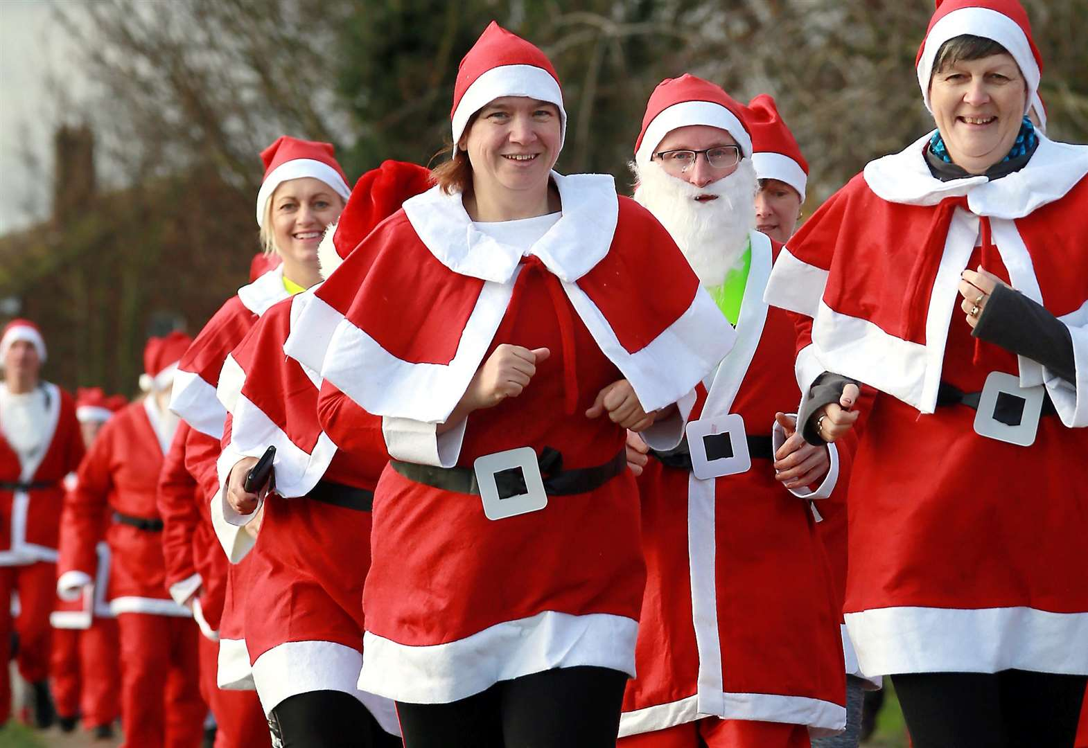 Families keep fit and elfie