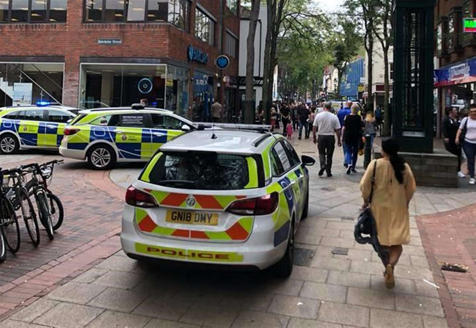 Police called to high street disturbance