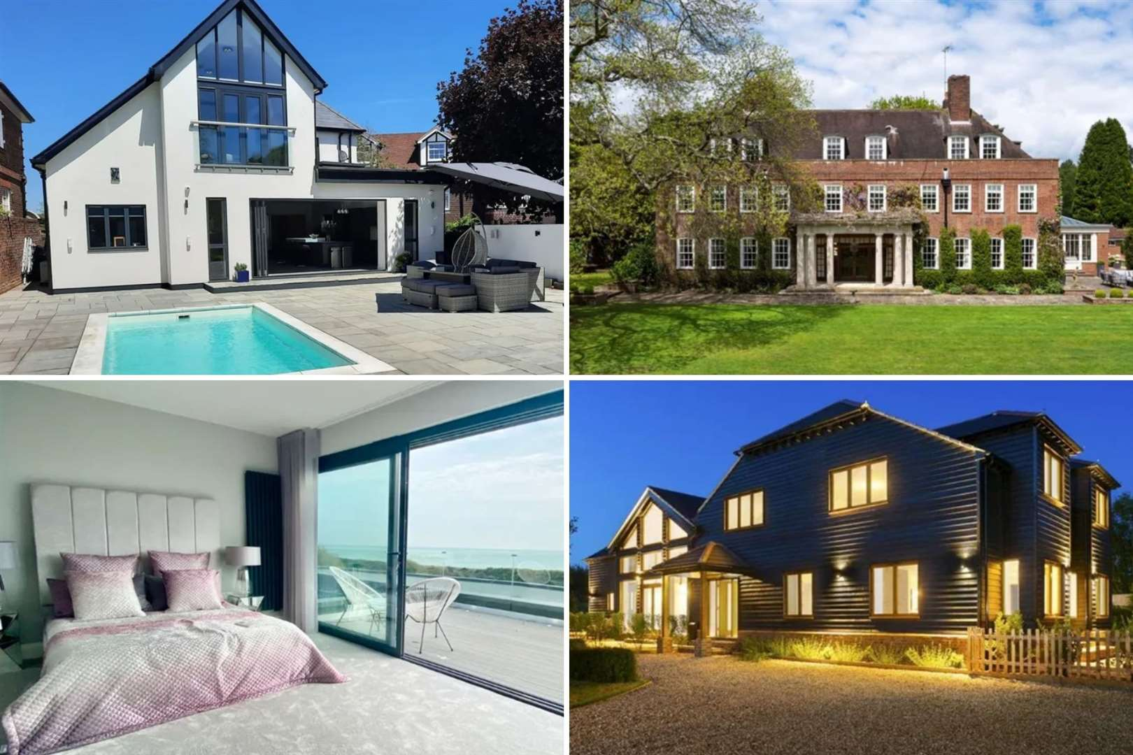 Some of the most luxurious homes in Kent which have just gone up for sale. Pictures: Zoopla