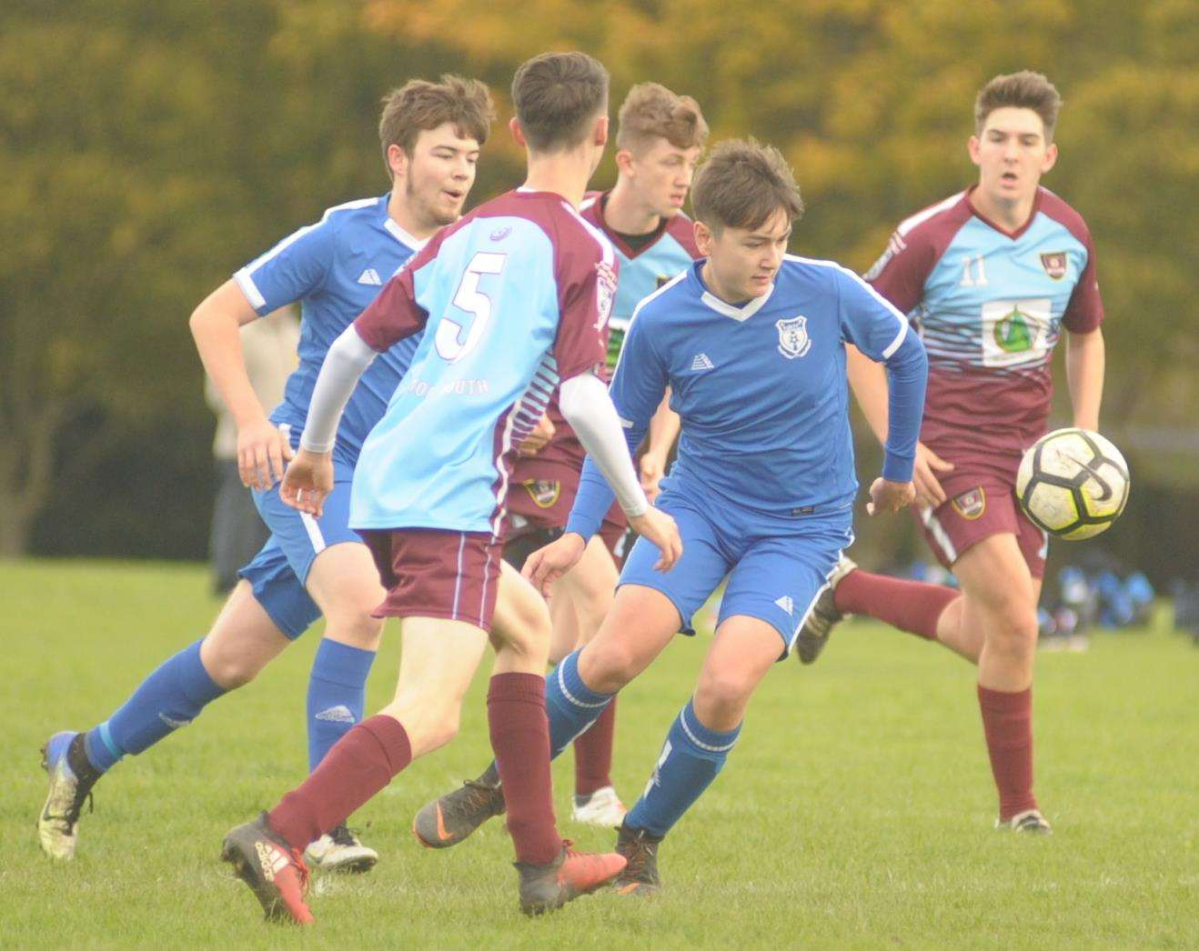 Wigmore Youth and New Road went head-to-head in Under-18 Division 2 Picture: Steve Crispe