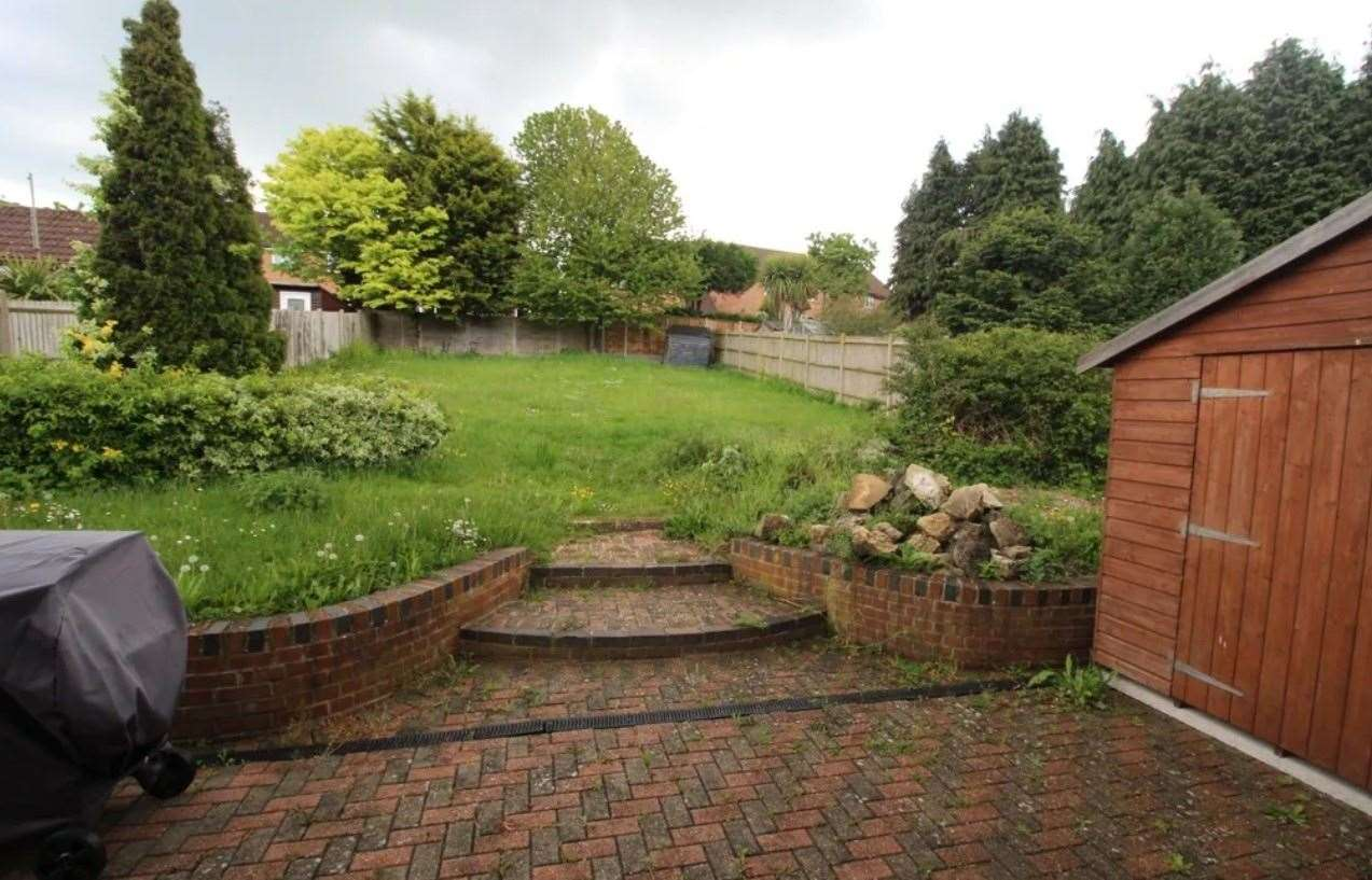 The large rear garden. Picture: Zoopla / Your Move