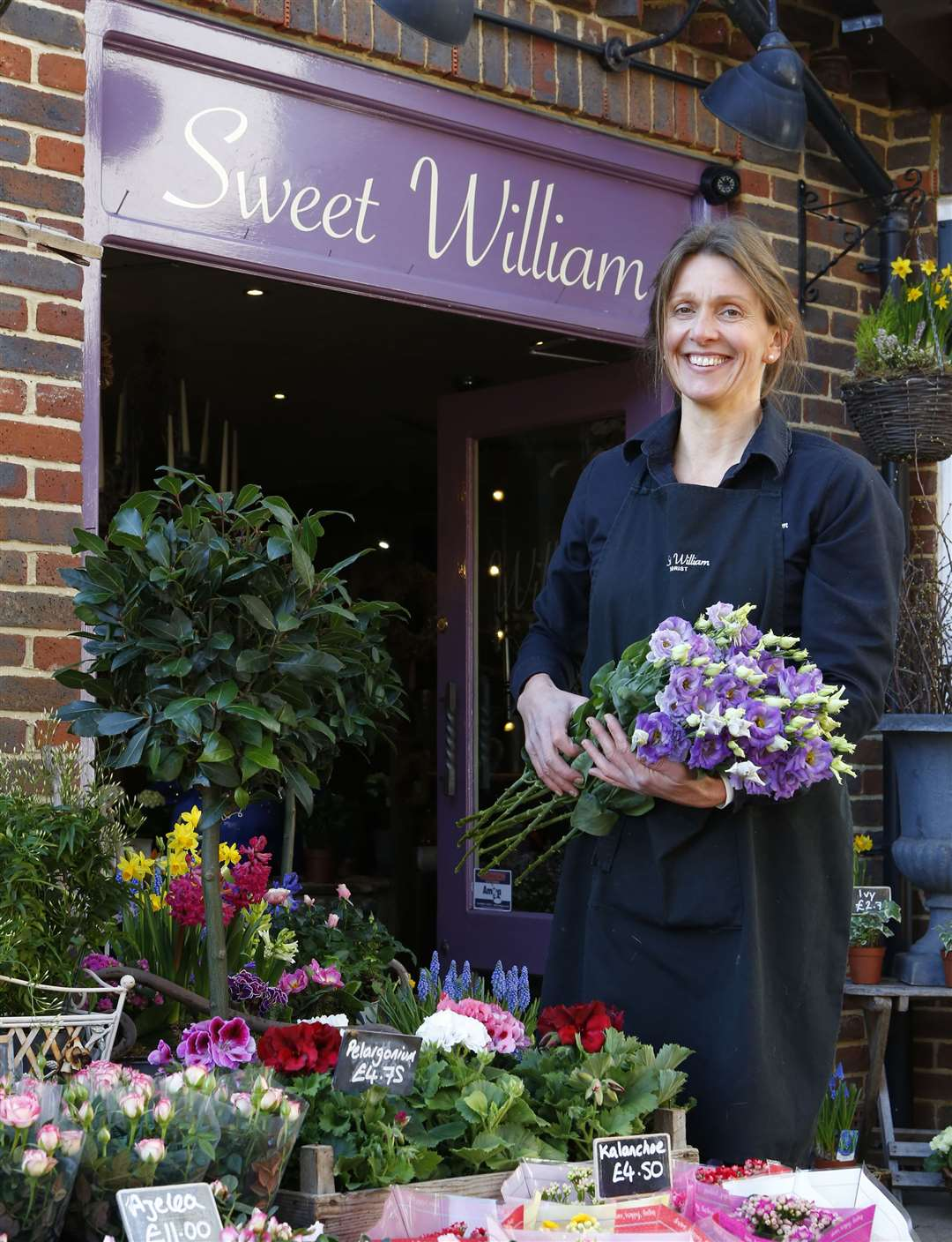 Julia Archer has owned the Headcorn florist for more than 20 years. Picture: Andy Jones