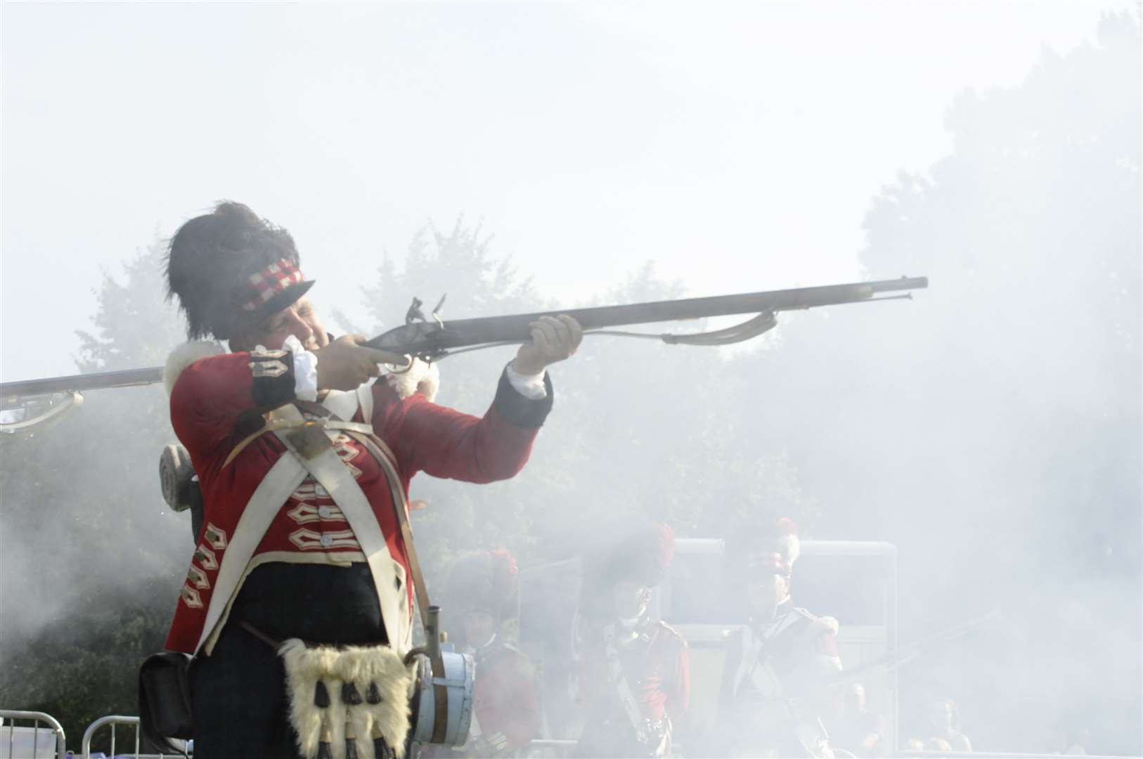 During the Maidstone River Festival 2011, 42th Highland Regiment re-enact senarios from 1815 Picture: Ruth Cuerden