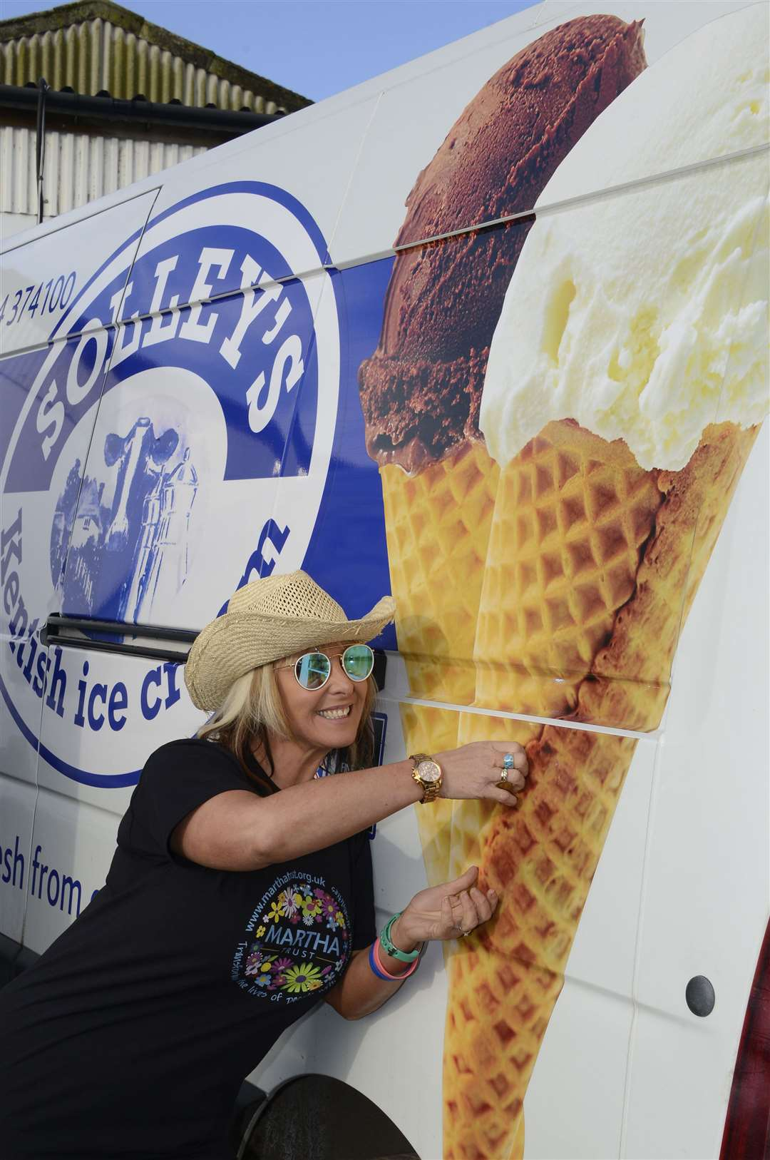 Music on the Farm organiser Kerry Banks at Solley's Ice Cream Parlour