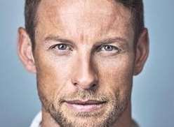 Racing driver Jenson Button was plugging his new book at Bluewater