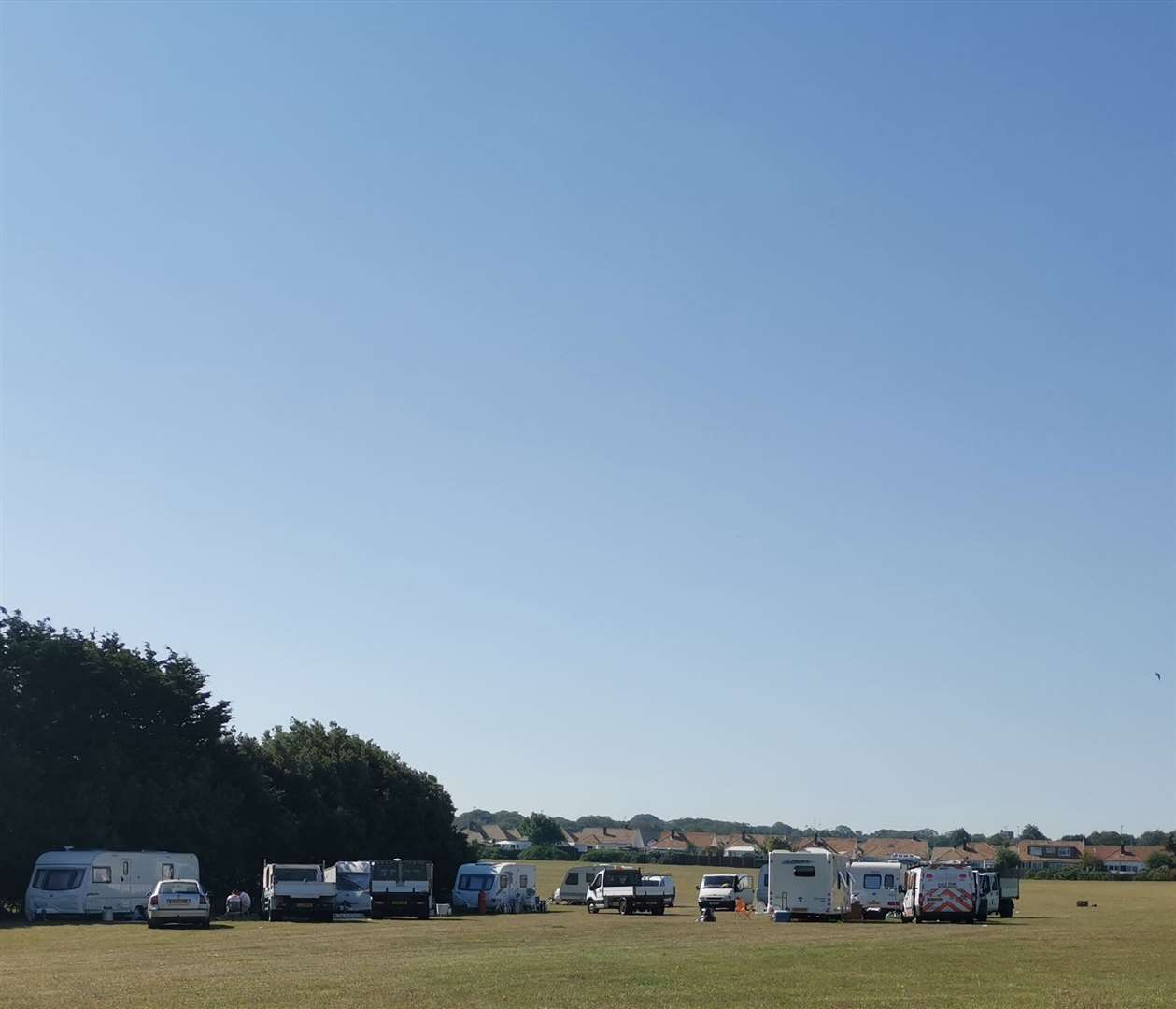 Travellers have set up camp in Palm Bay, Cliftonville