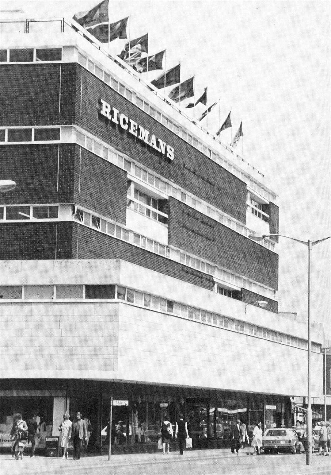 Ricemans in Canterbury, before it was torn down to make way for Whitefriars