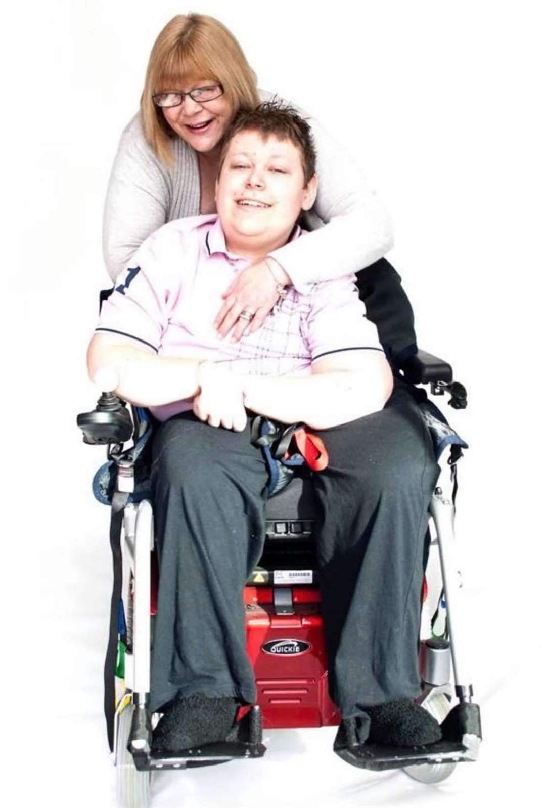 Charlie Owens with his late mum Sonia