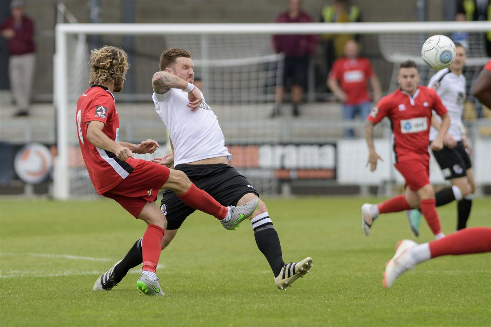 Dartford midfielder Elliot Bradbrook in action against Eastbourne Borough Picture: Andy Payton