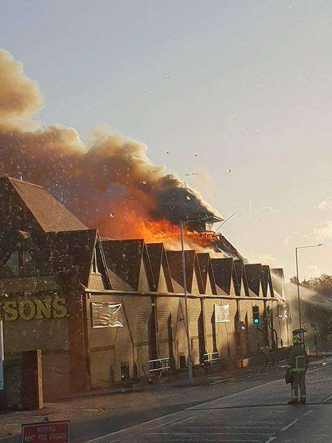 The Morrisons supermarket fire. Picture: Olly Shaw (5289992)