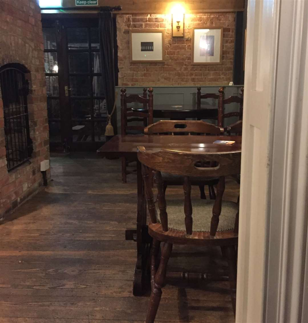 Stripped floorboards, natural brick and sensible furniture – the pub is well maintained and cared for