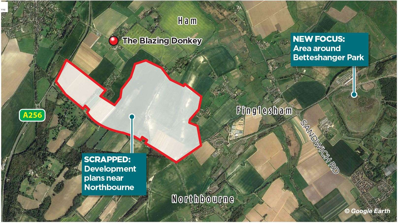 Quinn Estates has dropped plans for 3,750 new homes in Northbourne
