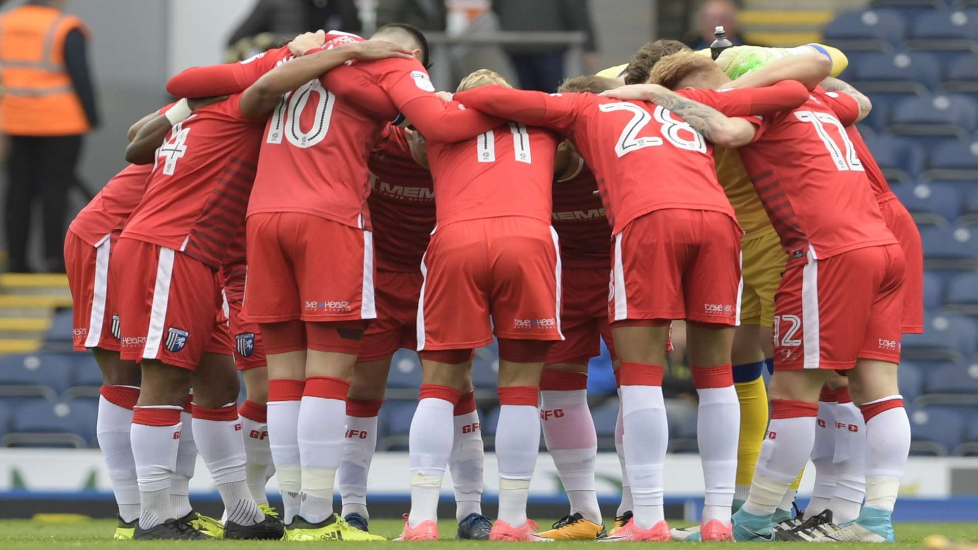 Final words of encouragement before kick-off at Ewood Park Picture: Barry Goodwin