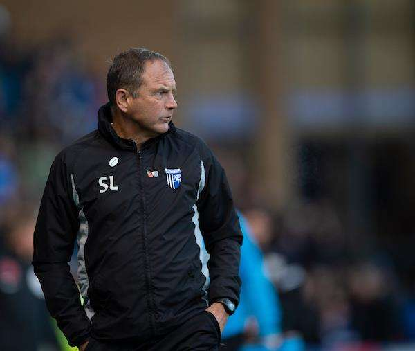 Gillingham manager Steve Lovell on Saturday Picture: Ady Kerry