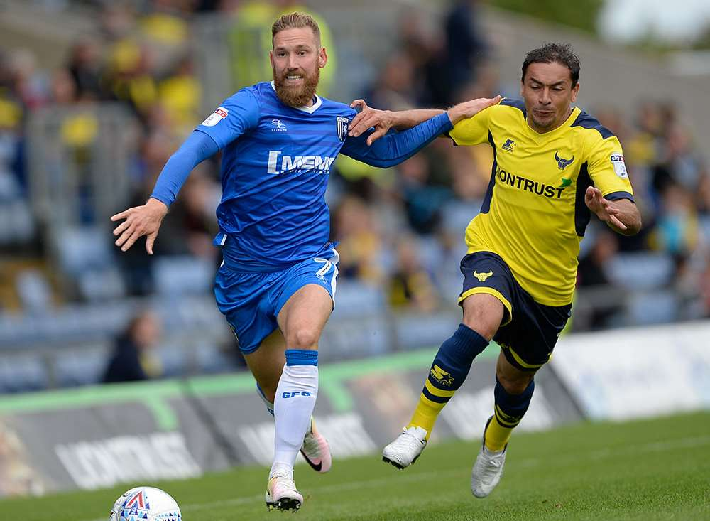 Gills midfielder Scott Wagstaff in actionPicture: Ady Kerry
