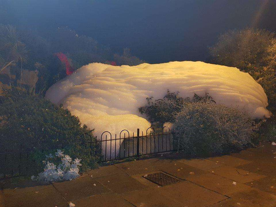 Madeira waterfall in Ramsgate is again full of foam. Picture: Emma Chaudhry (5230714)