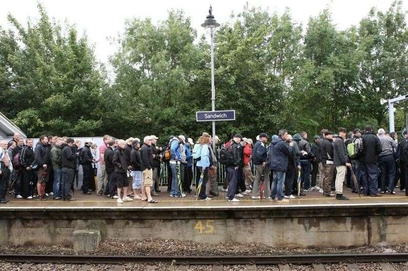 Plans for extended platforms at Sandwich Railway Station have been approved. Picture: Terry Scott