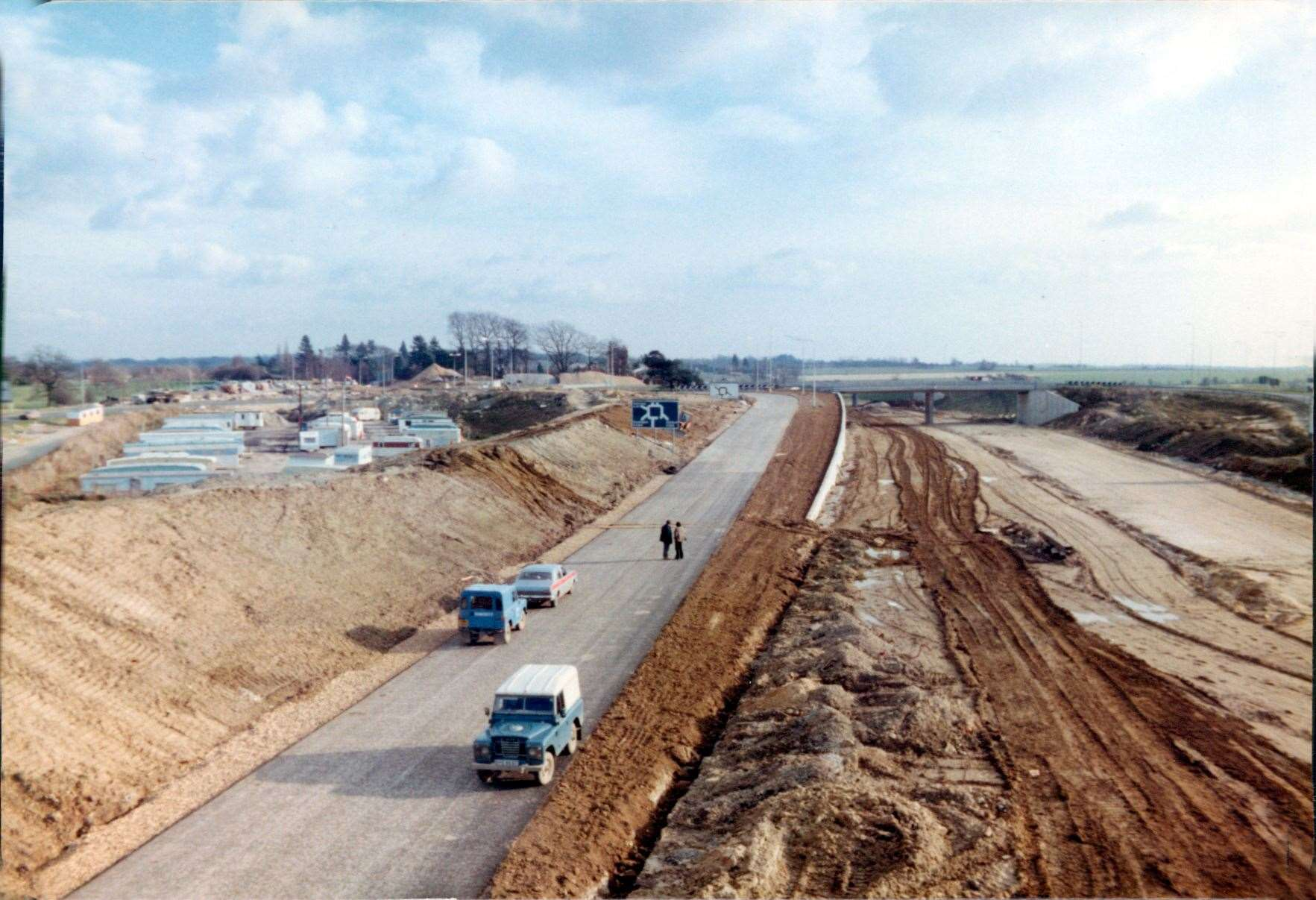 The M20 at Junction 10 nearing completion in 1981. Picture: Graham Williams